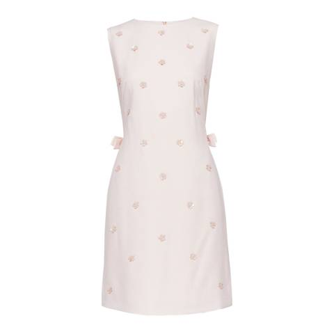 Ted Baker Nude Pink Betil Bow Embellished Dress