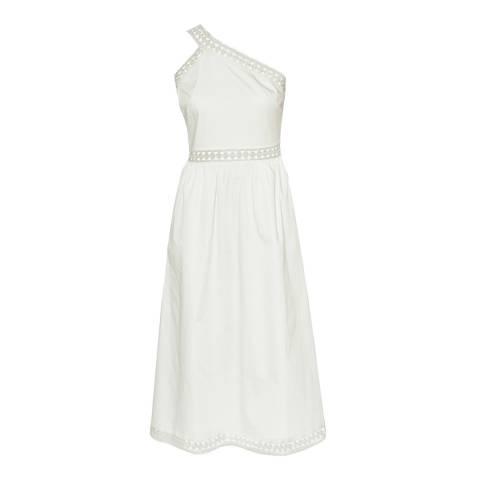 Ted Baker White Kallii Asymmetric Midi Dress