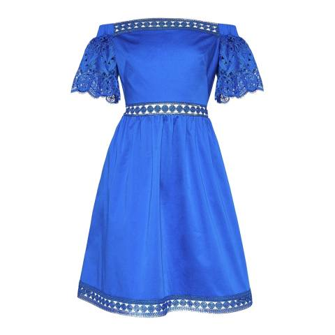 Ted Baker Bright Blue Loulah Lace Dress