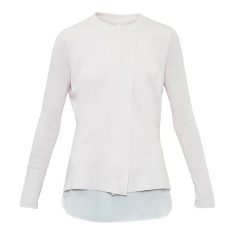 Ted Baker Baby Pink Denay Mockable Shirt Jumper