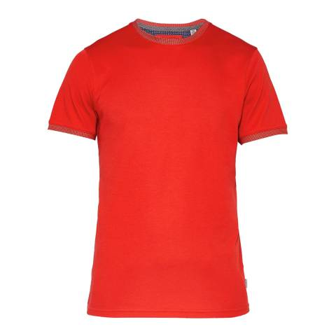 Ted Baker Orange Pik Solid Cotton T-Shirt