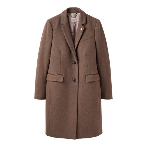 Joules Brown Cheltham Tweed Coat