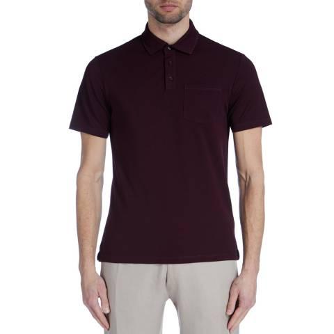 Reiss Burgundy Spirit Cotton Polo Shirt