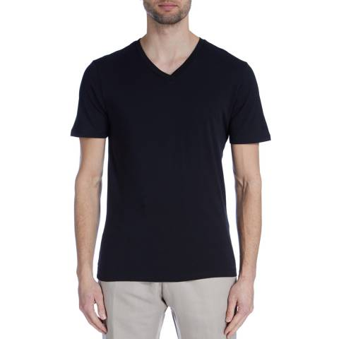 Reiss Black South V Neck T-Shirt