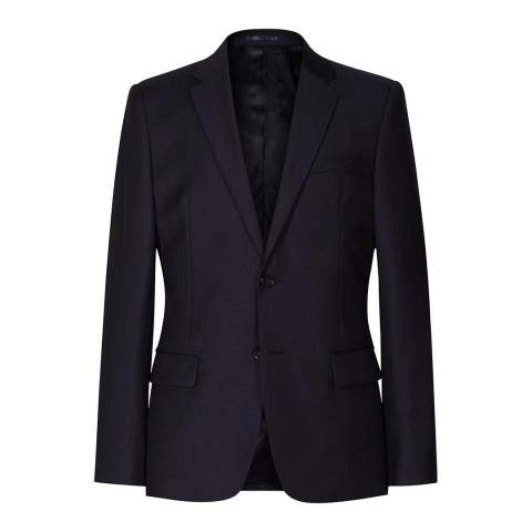 Reiss Navy Harry Modern Wool Suit Jacket