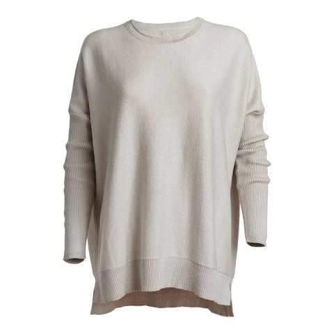 Cove Cashmere Natural Nicole Duvet Round Neck Cotton/Cashmere Jumper