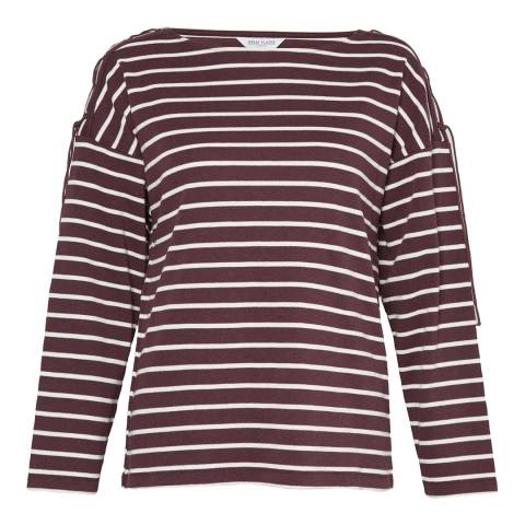 Great Plains Midnight/Milk Lace Up Stripe Top