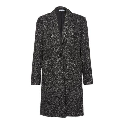 Great Plains Black/Off White Flecked Melton Pocket Coat