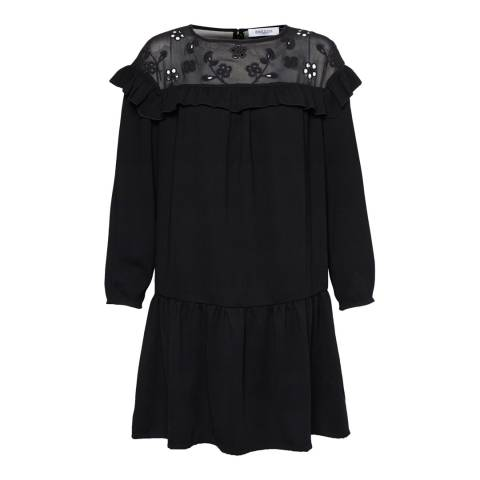 Great Plains Black Winter Broderie Dress