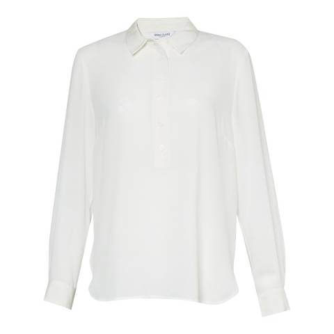 Great Plains Milk Collared Blouse