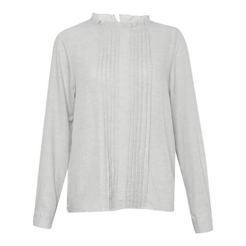 Great Plains Grey Melange Cotton Blouse