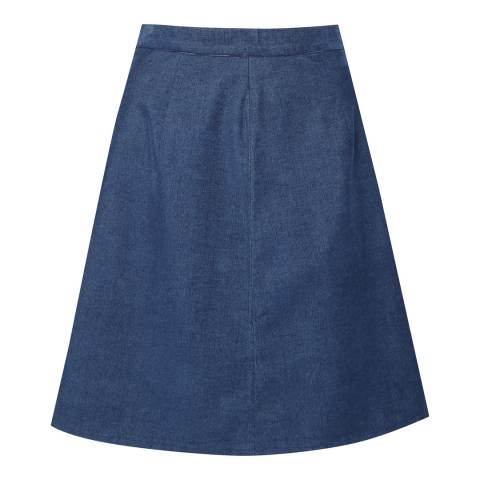 Great Plains Indigo Pin Needle Corduroy Mini Skirt