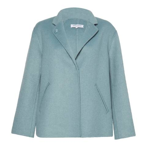 Great Plains Soft Teal Doubleface Collared Knit Jacket