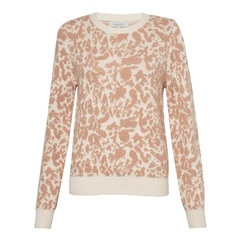 Great Plains Cinder Pink Feathered Leopard Knit Jumper