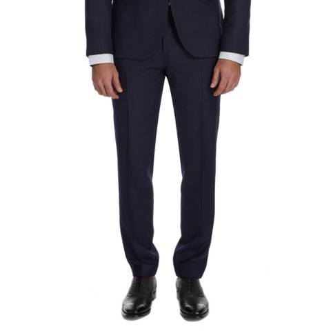 Tommy Hilfiger Navy Textured Regular Fit Suit Separate Pant