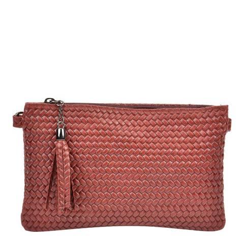 Mangotti Wine Leather Shoulder Bag
