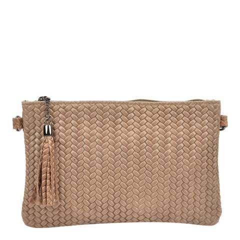 Mangotti Taupe Leather Shoulder Bag
