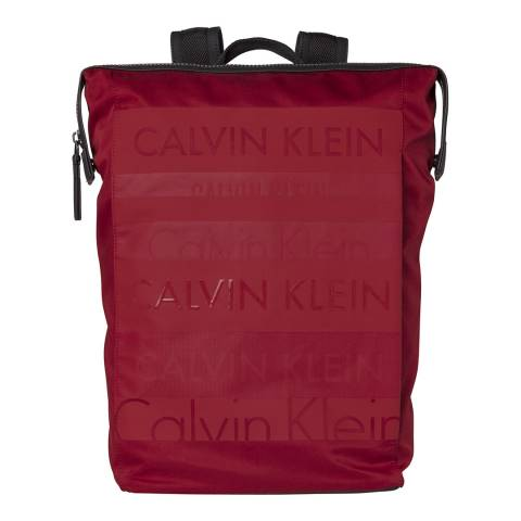 Calvin Klein Red Logo Addiction  Backpack