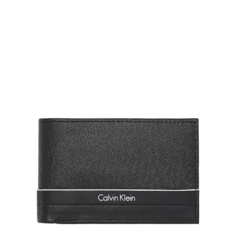 Calvin Klein Black Saffiano Elias Mini Slimfold