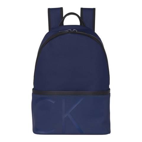 Calvin Klein Navy Raised Logo Backpack
