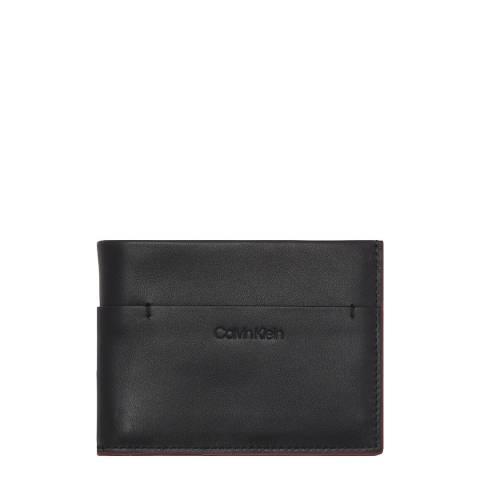 Calvin Klein Black Refined Tack Wallet