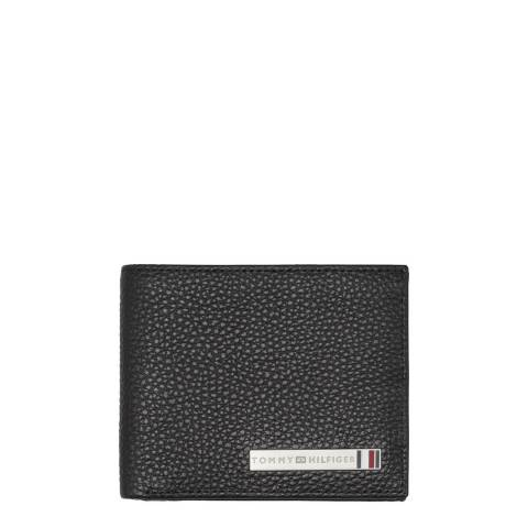 Tommy Hilfiger Black Plaque Mini Card Holder Wallet