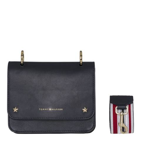 Tommy Hilfiger Navy Tommy Leather Mini Crossover Bag