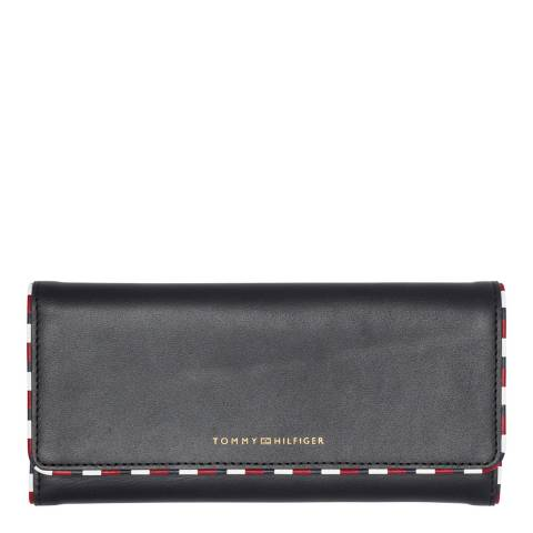 Tommy Hilfiger Navy Classic Leather Large Flap Wallet