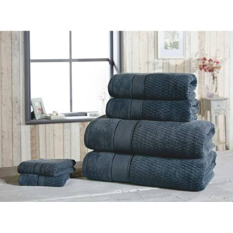 Rapport Royal Velvet Set of 6 Towels, Denim