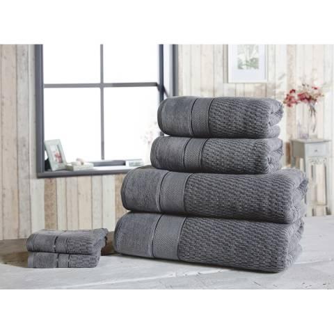 Rapport Royal Velvet Set of 6 Towels, Grey