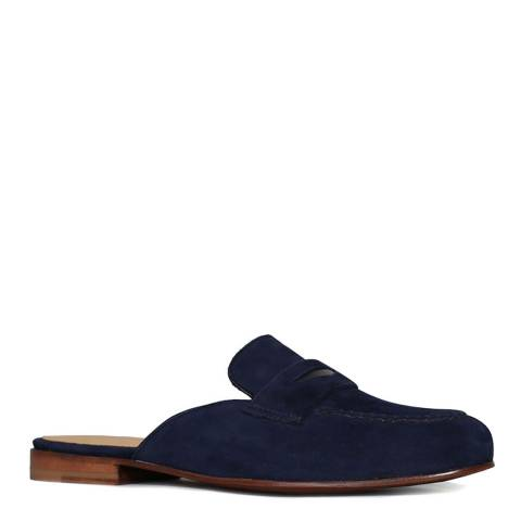 Oliver Sweeney Navy Suede Sennen Mule Moccasins