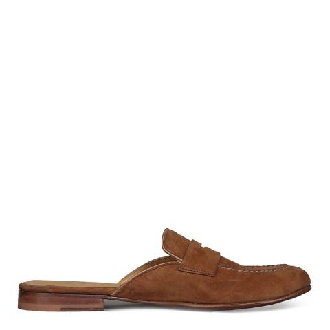 Oliver Sweeney Tan Suede Sennen Mule Moccasins