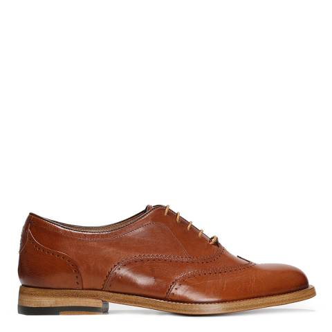Tan Leather Capannoli Oxford Brogue Shoes by Oliver Sweeney