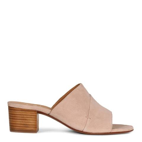 Oliver Sweeney Nude Suede Lorca Mule Sandals