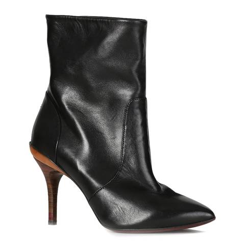 Oliver Sweeney Black Leather Pandoro Ankle Boots