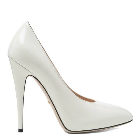 Gucci Ivory Leather High Heel Court Shoes