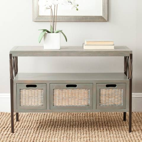 Safavieh Quinta Storage Console, Pewter/French Grey