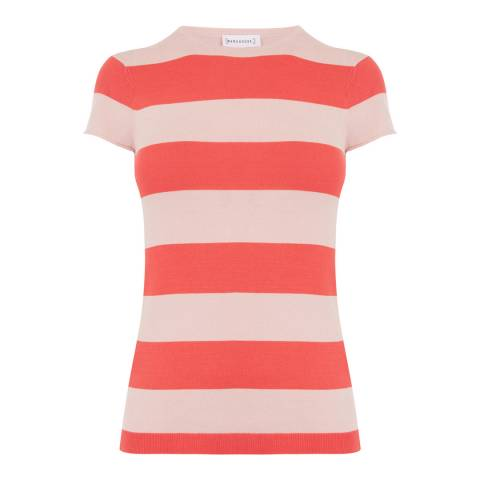 Warehouse Pink Bold Stripe T-Shirt