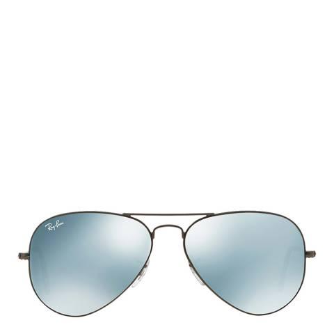 Ray-Ban Unisex Silver/Grey Aviator Sunglasses 58mm