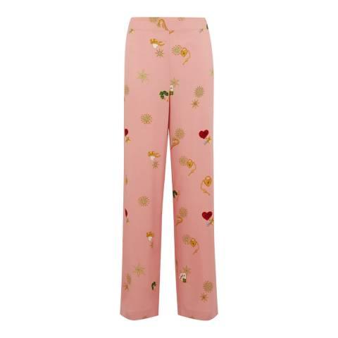 Warehouse Pink Pattern Pyjama Trouser