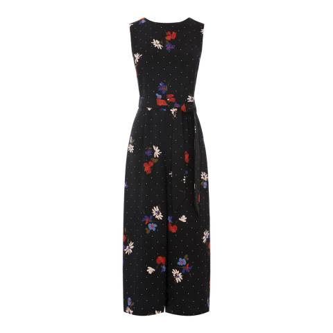 Warehouse Multi Scatter Floral Jumpsuit