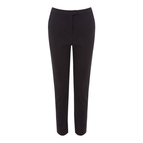 Warehouse Black Textured Slim Leg Trousers