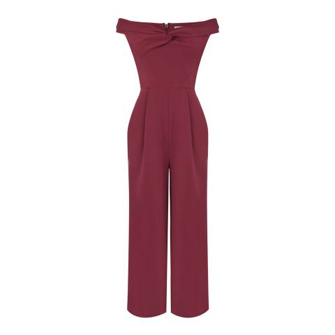 Warehouse Berry Bardot Jumpsuit