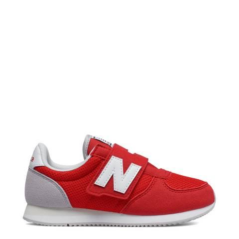 New Balance Kids Red Mesh Upper Trainer