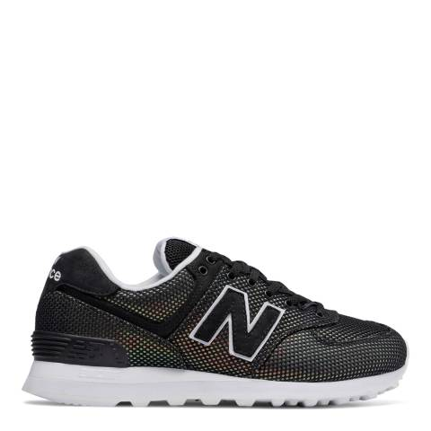 New Balance Black 574 Luminescent Mermaid Sneakers