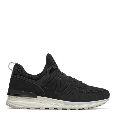 New Balance Black Suede & Mesh 574 Sneakers