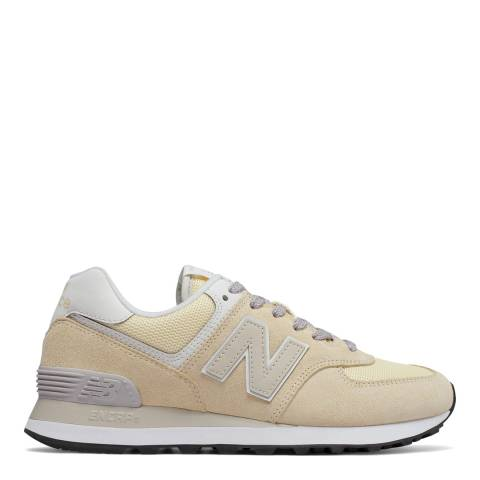 New Balance Cream Suede 574 Sneakers