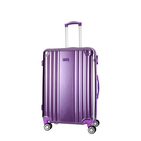 Travel One Violet Comilla Low Cost 8 Wheeled Suitcase 46cm