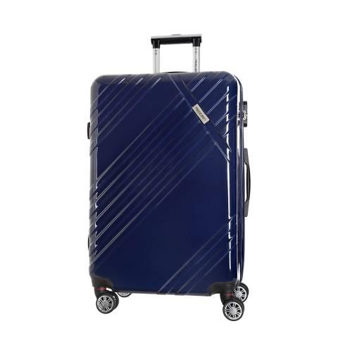 Travel One Marine Blue Rosciano 8 Wheeled Suitcase 56cm