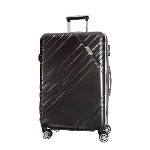 Travel One Anthracite Grey Rosciano 8 Wheeled Suitcase 56cm
